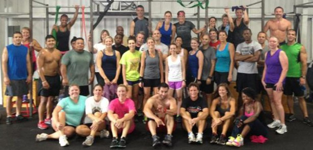 Large Saturday Group at the Crestview Crossfit FL